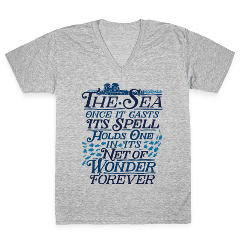 The Sea V-Neck Tee Shirt