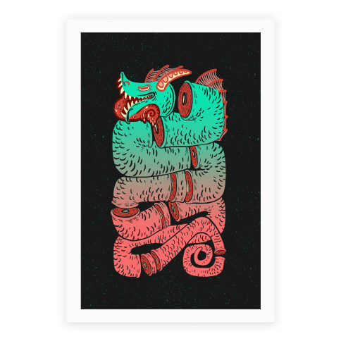 Sea Serpent Sections Poster