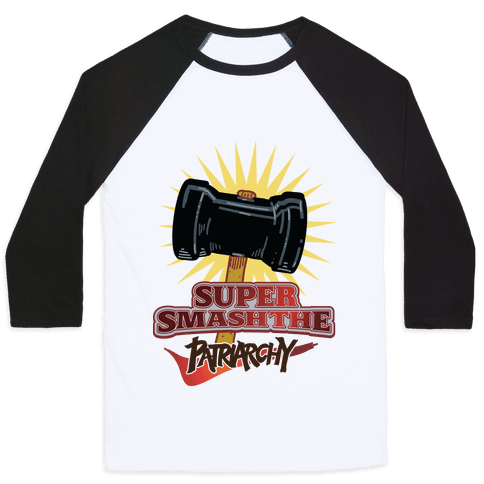 Super Smash The Patriarchy Baseball Tee