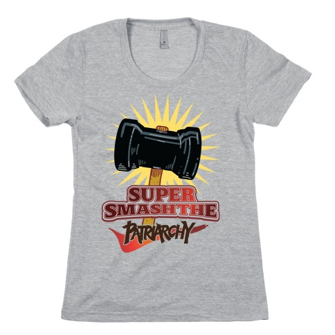 Super Smash The Patriarchy Womens T-Shirt