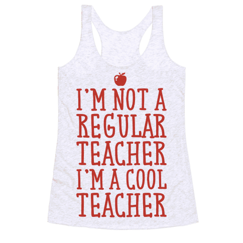 Cool Teacher Racerback Tank Top