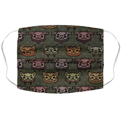 Cute Bugbear Pattern Accordion Face Mask