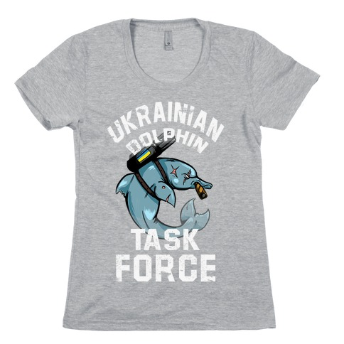 Ukrainian Dolphin Task Force Womens T-Shirt