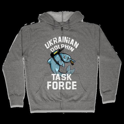 Ukrainian Dolphin Task Force Zip Hoodie