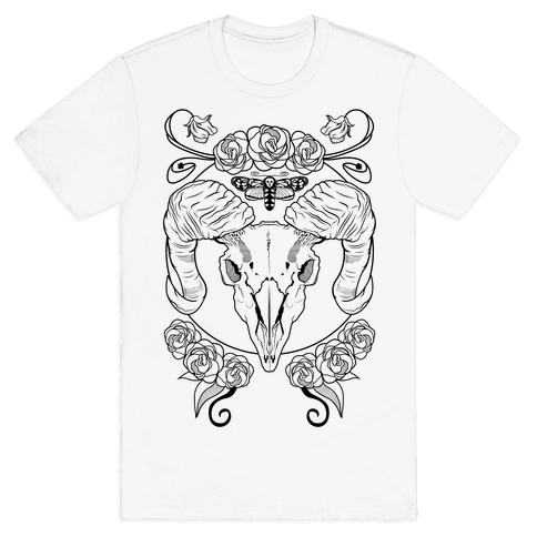 Skull of Ram Mens T-Shirt