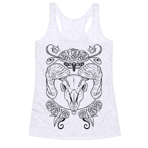 Skull of Ram Racerback Tank Top