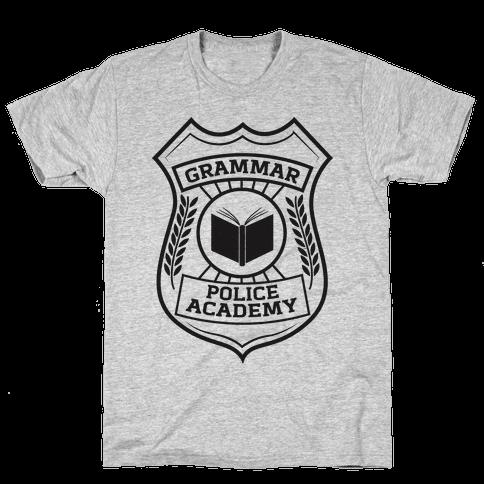 Grammar Police Academy Mens T-Shirt