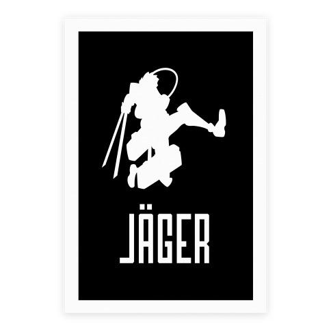 Eren Jaeger Silhouette Poster