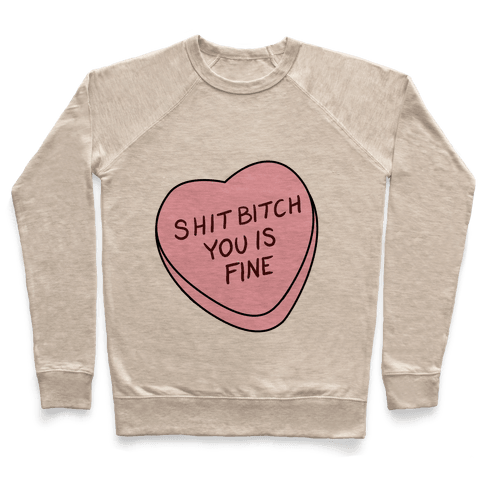 You is Fine Valentine Heart Pullover