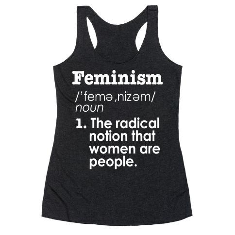 Feminism Definition Racerback Tank Top
