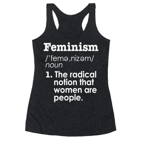 Feminism Definition Racerback Tank Top
