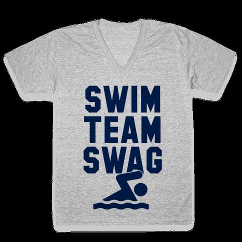 Swim Team Swag V-Neck Tee Shirt