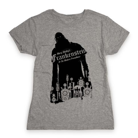 Mary Shelley's Frankenstein Womens T-Shirt