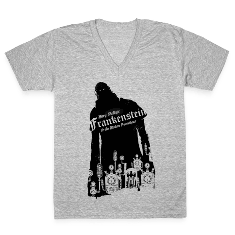 Mary Shelley's Frankenstein V-Neck Tee Shirt