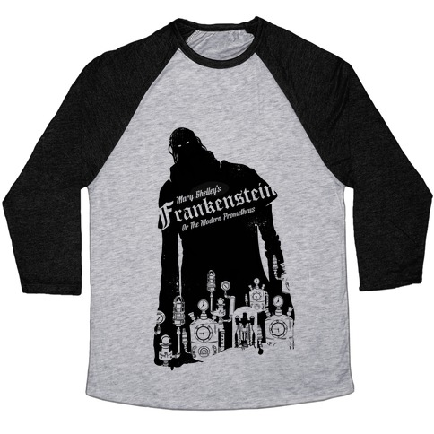 Mary Shelley's Frankenstein Baseball Tee