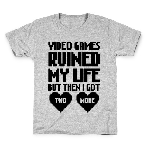 Video Games Ruined My Life Kids T-Shirt