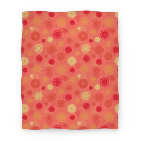 Fractal Flower Pattern Blanket