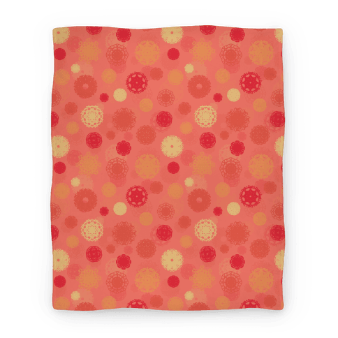Fractal Flower Pattern Blanket