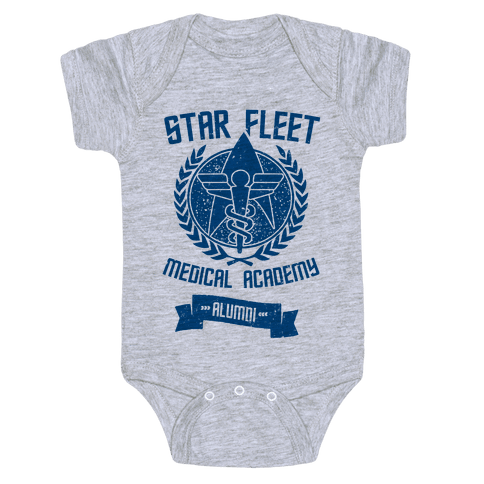 Star Fleet Medical Academy Alumni Baby Onesy