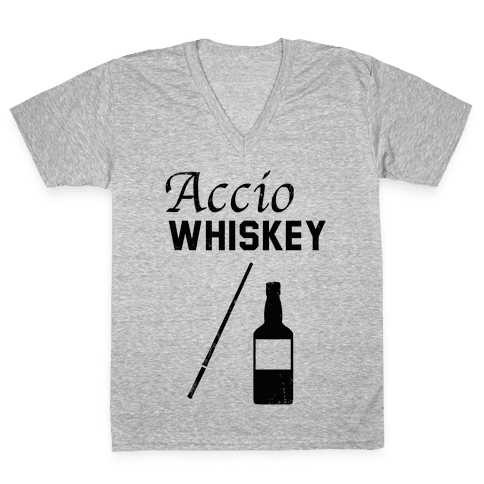 Accio WHISKEY V-Neck Tee Shirt