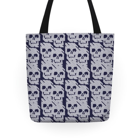 Repeating Skull Bars Tote
