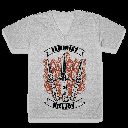 Feminist Killjoy V-Neck Tee Shirt