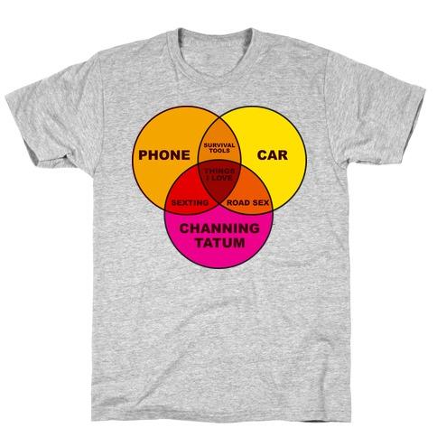 Channing Tatum Venn Diagram T-Shirt