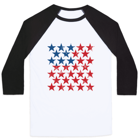 Field Of Stars Baseball Tee