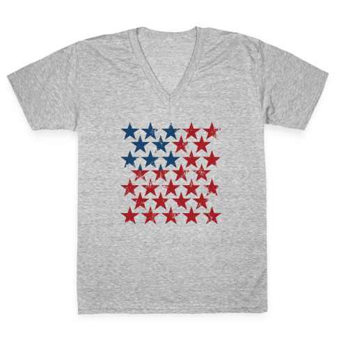 Field Of Stars V-Neck Tee Shirt