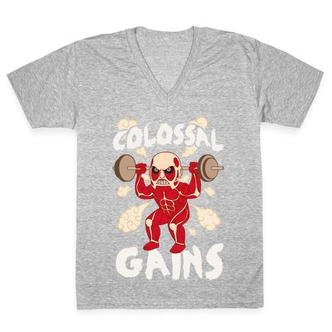 Colossal Gains (AoT) V-Neck Tee Shirt