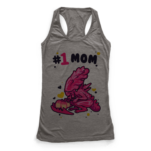 Alien Queen #1 Mom Racerback Tank Top