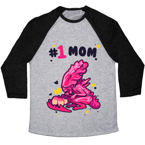Alien Queen #1 Mom Baseball Tee