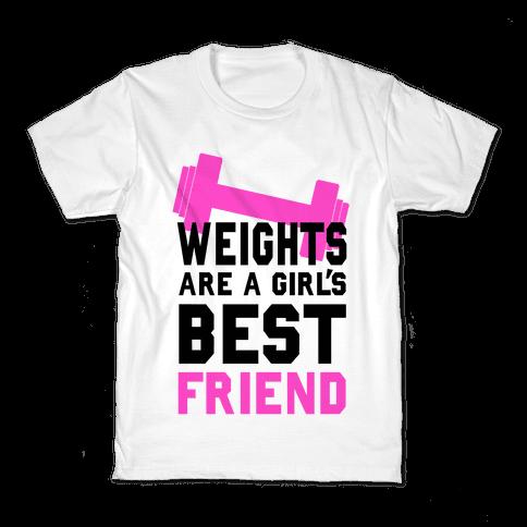 Weights are a Girls Best Friend Kids T-Shirt