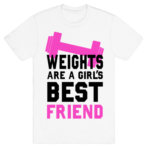 Weights are a Girls Best Friend Mens T-Shirt