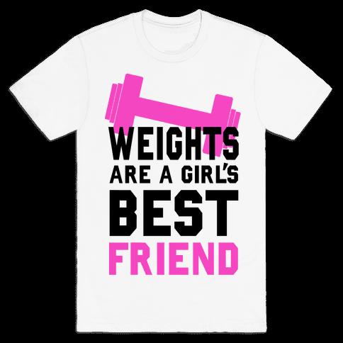 Weights are a Girls Best Friend Mens T-Shirt