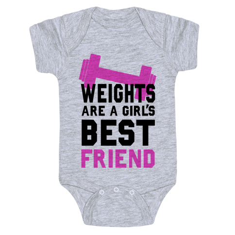 Weights are a Girls Best Friend Baby Onesy