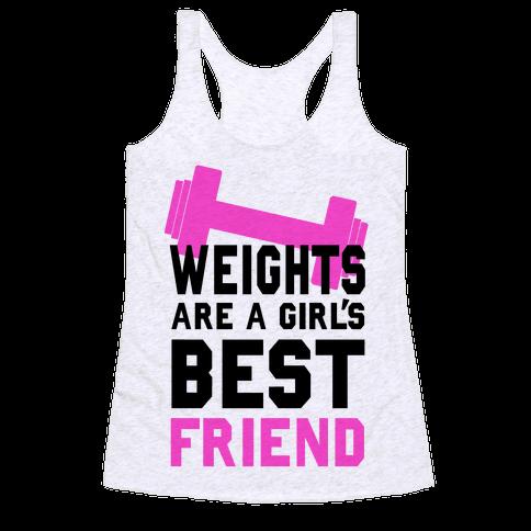 Weights are a Girls Best Friend Racerback Tank Top