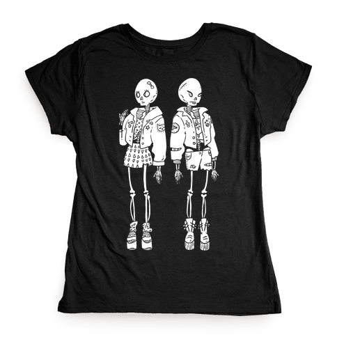 Skeleton Girls Womens T-Shirt