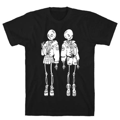 Skeleton Girls Mens T-Shirt