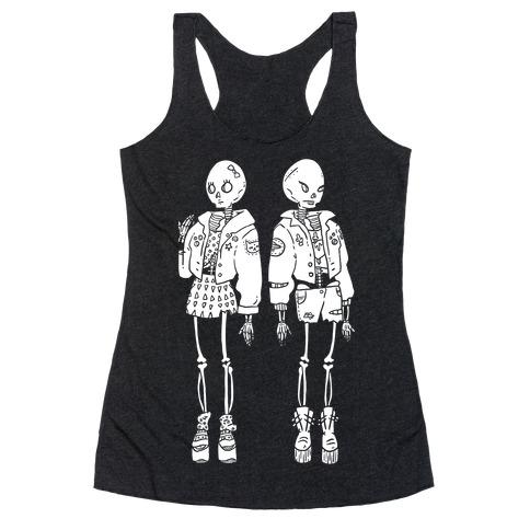 Skeleton Girls Racerback Tank Top