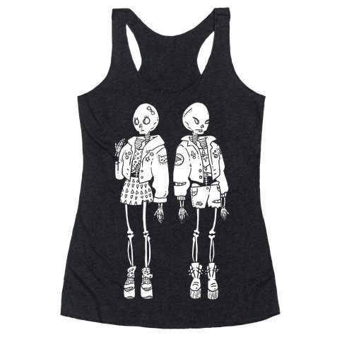 Skeleton Girls Racerback Tank Top