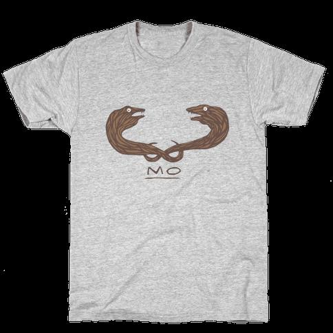 Mo-ray Eel Mustache Mens T-Shirt