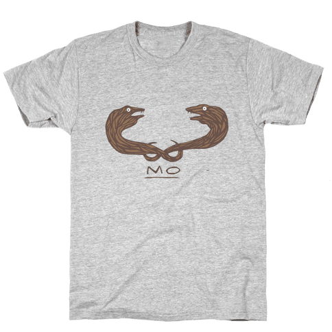 Mo-ray Eel Mustache Mens T-Shirt