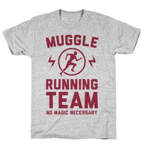 Muggle Running Team - No Magic Necessary Mens T-Shirt