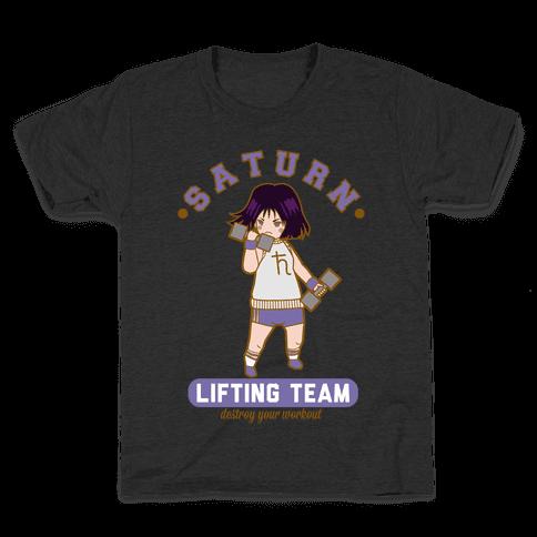 Saturn Lifting Team Parody Kids T-Shirt