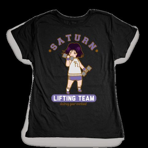 Saturn Lifting Team Parody Womens T-Shirt