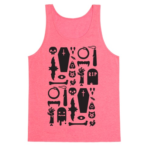 Simple Halloween Pattern Tank Top