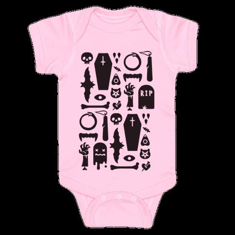 Simple Halloween Pattern Baby Onesy