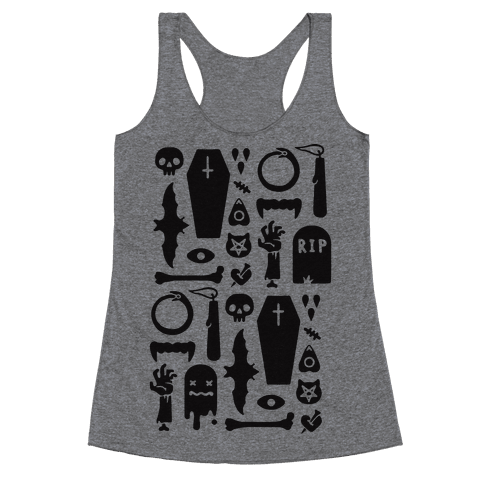 Simple Halloween Pattern Racerback Tank Top