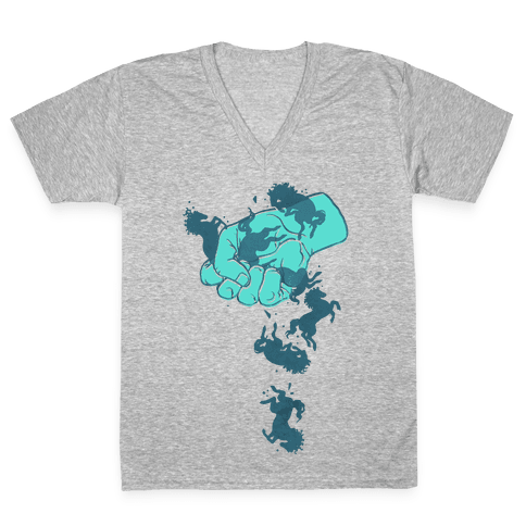 Hold Your Horses V-Neck Tee Shirt